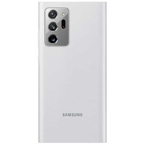 Чехол для Galaxy Note 20 Ultra книга Samsung Smart LED View Cover серебристо-белый