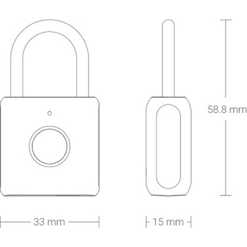 Умный замок Xiaomi Smart Fingerprint Lock Padlock YD-K1 (Синий)